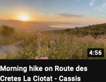 Morning hike on Route des Cretes La Ciotat - Cassis